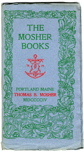The Mosher Books Catalog Cover