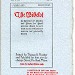The Bibelot (1895-1915) - Front blue wrapper for the monthly issue of February 1911.