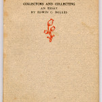 "Books Privately Printed (1892-1923) - Edwin Bolles' ""Collectors and Collecting"" cover page."
