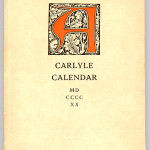 "Books Privately Printed (1892-1923) - ""Carlyle Calendar -- Weekly Visits to the Sage of Chelsa"" cover page."