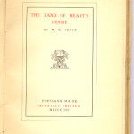 "Books Privately Printed (1892-1923) - William Butler Yeats' ""The Land of Heart's Desire"" title page."