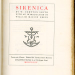 "Miscellaneous Series (1895-1923) - ""Sirenica"" by W. Compton Leith with an introduction by William Marion Reidy. Title page."