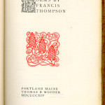 """Miscellaneous Series (1895-1923) - """"Poems by Francis Thompson."""" Title page."""