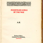 "Miscellaneous Series (1895-1923) - ""Homeward Songs by the Way"" by A.E. Title page."