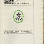 "Miscellaneous Series (1895-1923) - ""Memories of President Lincoln"" by Walt Whitman. Title page."