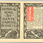 "Miscellaneous Series (1895-1923) - ""Hand & Soul"" by Dante Gabriel Rossetti. Title page."