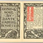 "Miscellaneous Series (1895-1923) - ""Hand & Soul"" by Dante Gabriel Rossetti. Title page."