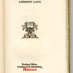 "Old World Series (1895-1909) - Andrew Lang, trans. ""Aucassin & Nicolete."" Title page."