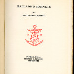 "The Quarto Series (1899-1904) - D. G. Rossetti's ""Ballads & Sonnets"" (reproduced at 70%)."