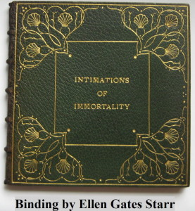 """""""Intimations of Immortality"""" - Binding by Ellen Gates Starr"""