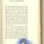 """At beginning of """"The Roadmender"""", first part, Page 3."""