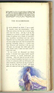 "At beginning of ""The Roadmender"", first part, Page 3."