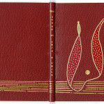"Modern binding on "" The Story of Amis & Amile"" (1899) by Swiss contemporary artist Hugo Peller."