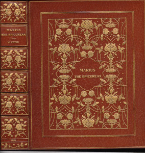 "TOOF & Co. exhibition binding on ""Marius the Epicurean""; Mosher, 1900; Copy No. 3 of 4 printed on vellum."