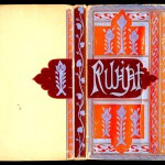 "Illuminated cover by William Cushing Bamburgh on Fitzgerald's ""Rubáiyát of Omar Khayyám,"" 1911."