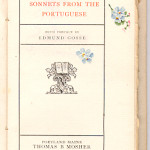 """Dainty illumination to """"Sonnets from the Portuguese"""" (1900)."""