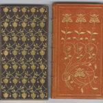 "Zaehensdorf Exhibition Binding for The Mosher Books - (Left) Black - Michael Field's ""Underneath the Bough"" (1898); (Right) Light Brown - Swinburne's ""Atalanta in Calydon"" (1897)"